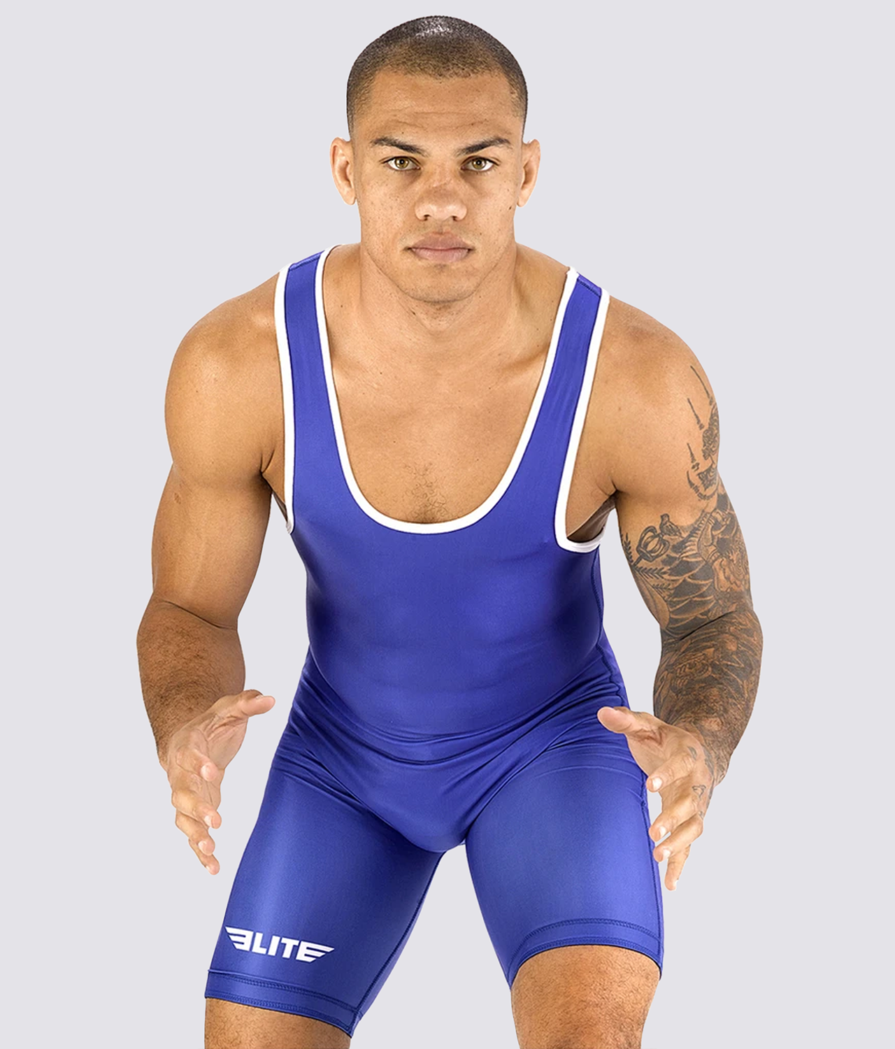 Elite Sports Standard Series Antibacterial Blue Wrestling Singlets