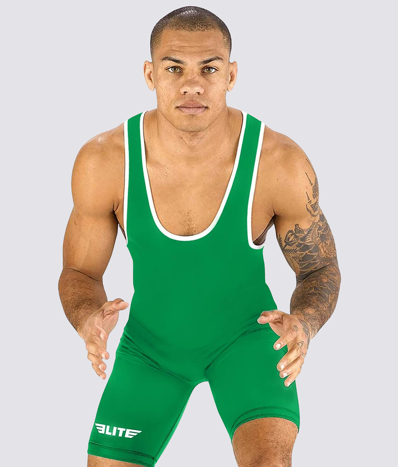 Elite Sports Standard Series Antibacterial Green Wrestling Singlets