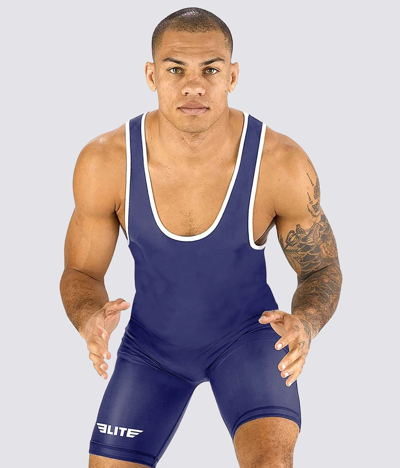 Elite Sports Standard Series Antibacterial Navy Wrestling Singlets