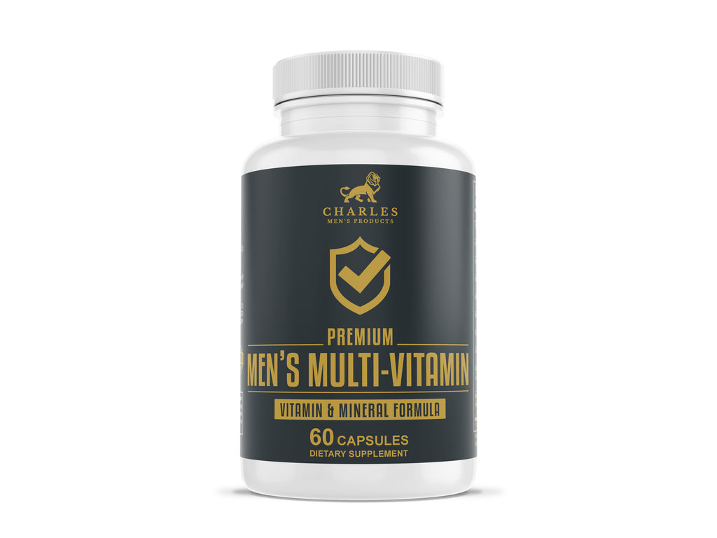 Charles Men's Products Daily Men's Multi-Vitamin. The intended benefits of this supplement include to support blood pressure control, fight muscular degeneration, promote prostate health, aid in in immune support, support cardiovascular health, aid in overall joint health, and boost energy and mood