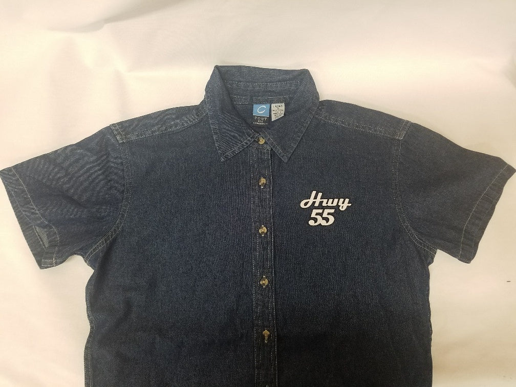 Women's Hwy 55 Short Sleeve Denim Shirt
