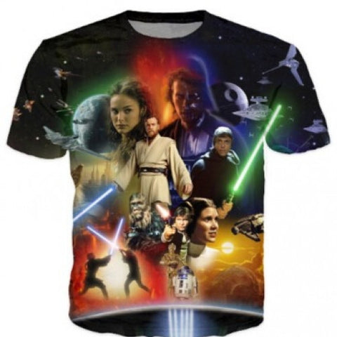 Anakin Skywalker 3D tshirt O Neck T-Shirt Tops Tees Shirt Women/men T Shirts Star Wars Lightsaber