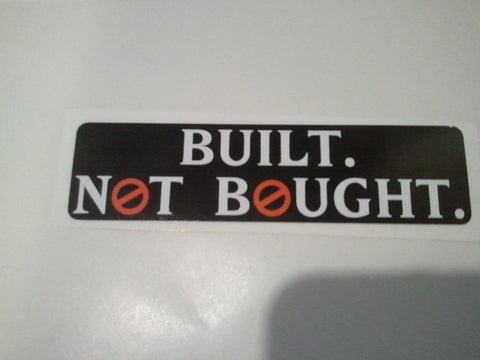 Built Not Bought - Decal - Sticker - GhostBusters NH