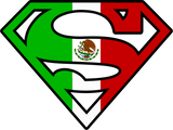 Superman Mexican Flag Logo Black Tshirt - TshirtNow.net - 3