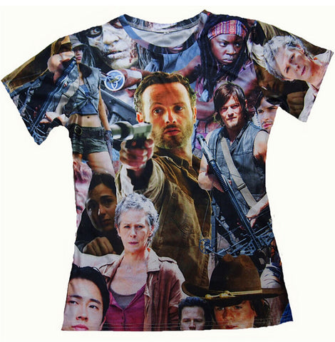 The Walking Dead Allover 3D Print Tshirts