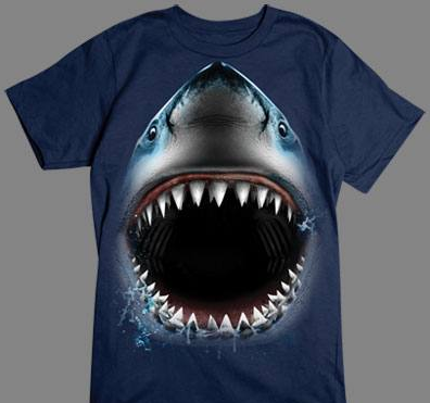Shark Face tshirt