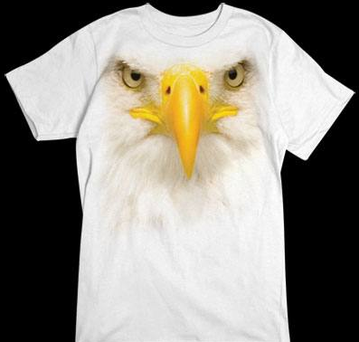 Eagle Face White tshirt