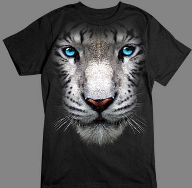 White Tiger Face Tshirt