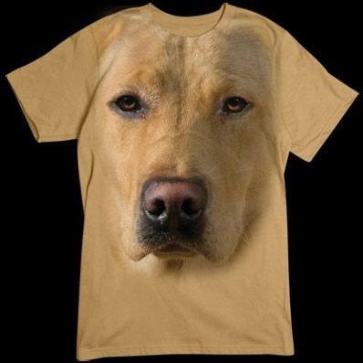 Yellow Lab Face tshirt