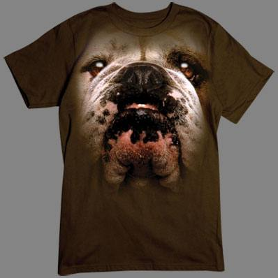 Bulldog Face tshirt