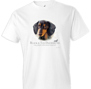 Black and Tan Dachshund tshirt