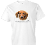 Red Smooth Dachshund Tshirt - TshirtNow.net - 1