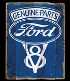 Ford Genuine Parts V8 Logo Vintage Sign Tshirt - TshirtNow.net - 2