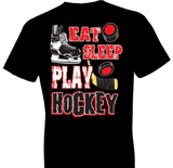 Eat Sleep Play Hockey Tshirt - TshirtNow.net - 1