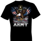 U.S. Army Eagle and Flag Tshirt - TshirtNow.net - 1