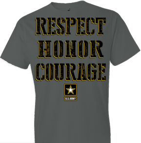 U.S. Army Respect Honor Courage Tshirt - TshirtNow.net - 1