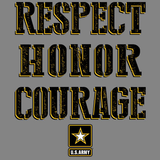 U.S. Army Respect Honor Courage Tshirt - TshirtNow.net - 2