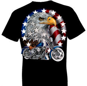 Red White and Bold Biker Tshirt - TshirtNow.net - 1