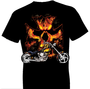 Bike Flames Biker Tshirt