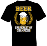 Beer Breakfast of Champions Tshirt - TshirtNow.net - 1