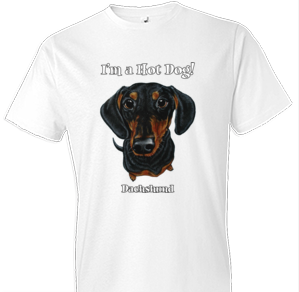 Funny Black and Tan Dachshund Tshirt