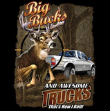 Big Bucks and Awesome Trucks Wildlife Tshirt - TshirtNow.net - 2
