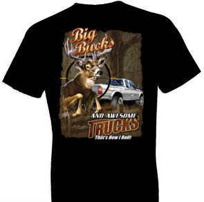 Big Bucks and Awesome Trucks Wildlife Tshirt - TshirtNow.net - 1