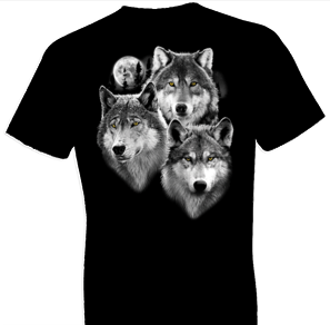 Three Wolves Portrait Tshirt - TshirtNow.net - 1