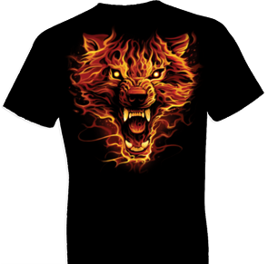 Flaming Wolf Tshirt - TshirtNow.net - 1