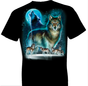 Wolf Moon Silhouette Oversized Print Tshirt