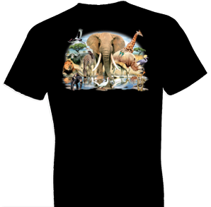 African Oasis Black Tshirt With Oversized Print