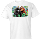 Jungle Buddies Monkey Tshirt Oversized Print - TshirtNow.net - 1