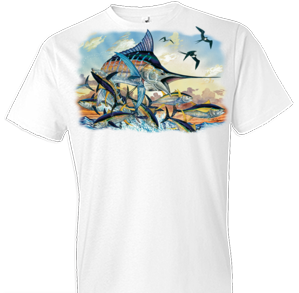 Marlin and Tuna Fish Tshirt - TshirtNow.net - 1