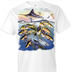 Saltwater Collage Fish Tshirt - TshirtNow.net - 1