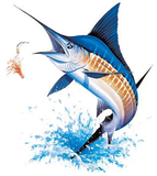Blue Marlin Fish Tshirt - TshirtNow.net - 2