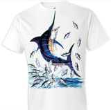 Blue Marlin 2 Fish Tshirt - TshirtNow.net - 1