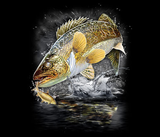 Jumping Walleye Tshirt - TshirtNow.net - 2