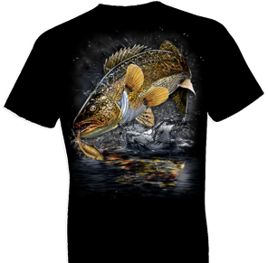 Jumping Walleye Tshirt - TshirtNow.net - 1