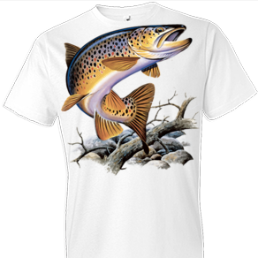Brown Trout Tshirt with Oversized Print - TshirtNow.net - 1