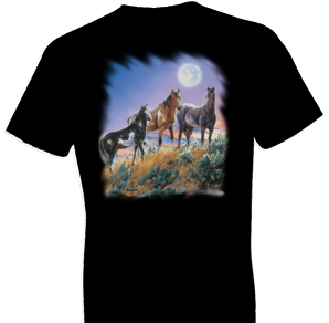 Under The Desert Moon Horse Tshirt - TshirtNow.net