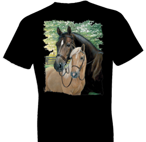 Hot Shot and Ed Horse Tshirt with Oversized Print