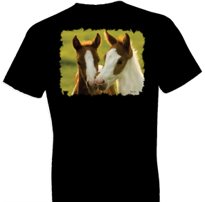 Playful Friends Horse Tshirt - TshirtNow.net - 1