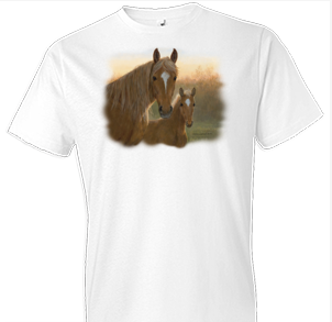 Dusk Horse Tshirt with Oversized Print