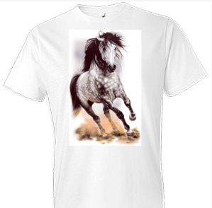 Glorious Gray Horse Tshirt