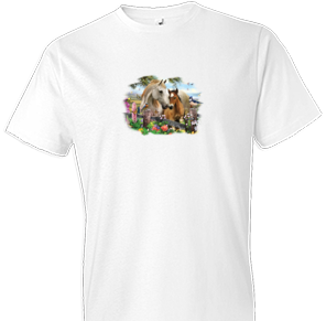 Hollyhock Horse Tshirt with Small Print