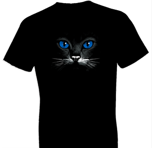 Blue Eyes Black Cat Tshirt
