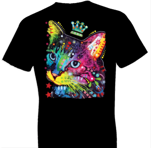 Thinking Cat Crowned Tshirt - TshirtNow.net - 1