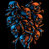 Skeleton Shield Fantasy Tshirt - TshirtNow.net - 2