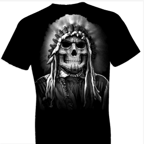 Indian Chief Skull Tshirt
