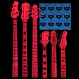 Red white and Blues Guitar Tshirt - TshirtNow.net - 2